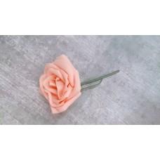 Бутоньерка Роза SvetikFantasy Цвет: коралл, размер: стебель 12см, цветы 7,5 см №3275.112