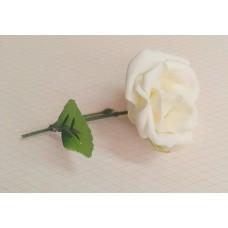 Бутоньерка Роза SvetikFantasy Цвет: айвори, размер: стебель 12см, цветы 7,5 см №3277.112