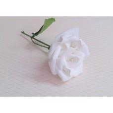 Бутоньерка Роза SvetikFantasy Цвет: белый, размер: стебель 12см, цветы 7,5 см №3278.112