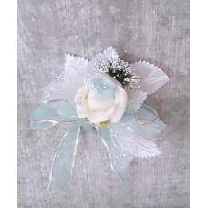 Цветочек Белый с голубым 10х9,0см №3279.35