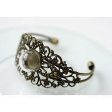 Набор браслет ИЗЯЩНЫЙ со стеклянным украшением 20мм №3301.205