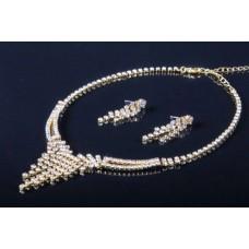 Комплект бижутерии  (колье, серьги) цвет: золото №2999.215