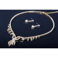Комплект бижутерии  (колье, серьги) цвет: золото №3000.195