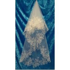Фата с вышивкой  Размер полотна : 2 метра Цвета:  айвори, вышивка перламутр 386 №3067.745