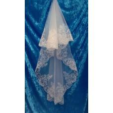 Фата с вышивкой  Размер полотна : 2 метра Цвета:  айвори, вышивка перламутр 367 №3068.745