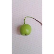 Декоративное Яблоко, зеленое размер: 2,2 х 2,7 см №3112.25