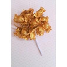 Букетик золото из 12 розочек   №3119.140