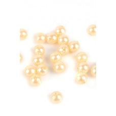 Бусины шарики перламутровые кремовые размер: 2 см №3144.50