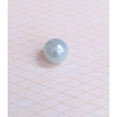 Бусины шарики перламутровые голубые размер: 1,4 см №3146.20