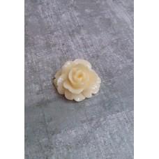 Камея Роза кремовая, размер: 25 мм №3152.20