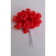 Букетик красный из 12 розочек   №3154.54