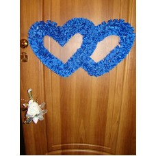 Два сердца для украшения квартиры, зала, стен, штор цвет: синий №1620.80