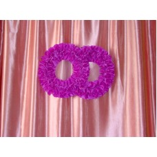 Два кольца для украшения квартиры, зала, стен, штор шелк цвет: фиолетовый №2796.110