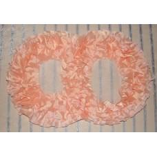 Два кольца для украшения машины шелк цвет: персиковый №2798.110