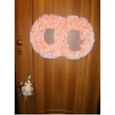 Два кольца для украшения квартиры, зала, стен, штор шелк шелк цвет: персиковый №2798.110