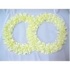 Два кольца для украшения квартиры, зала, стен, штор атлас цвет: айвори №2801.101