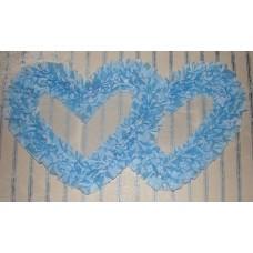 Два сердца для украшения машины шелк цвет: голубой №2809.110