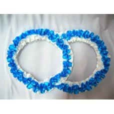 Два кольца для украшения машины атлас цвет: бирюзовый №2820.101