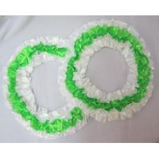 Два кольца для украшения квартиры, зала, стен, штор; шелк; цвет: белый с зеленым №2830.92