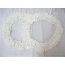 Два кольца для украшения квартиры, зала, стен, штор; шелк; цвет:  белый №2832.92