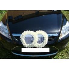 Два кольца для украшения машины шелк; цвет: бежевый №2833.110