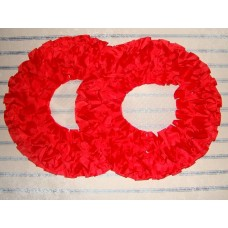Два кольца для украшения квартиры, зала, стен, штор; шелк; цвет: красный №2834.110