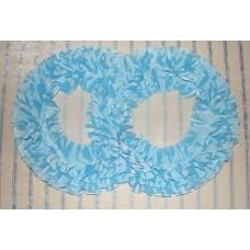 Два кольца для украшения машины шелк; цвет: голубой №2835.110