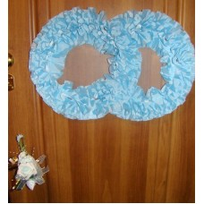 Два кольца для украшения квартиры, зала, стен, штор; шелк; цвет:  голубой №2835.110