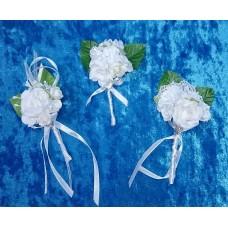 Бутоньерка 11,5х6см SvetikFantasy Цвет: белый; отделка в ассортименте; 1 штука №2669.147