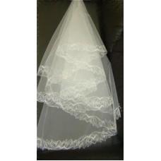 Фата с вышивкой белая №7.990