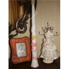 Домашний очаг свеча 30Х2,5см Цвет: белый №18423351.186