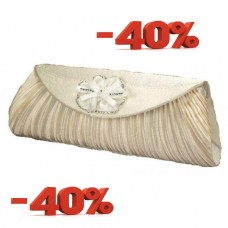 Акция Сумка - клатч из атласа.  Размер: 25х10,5см Цвета: айвори №1320/4100492.540