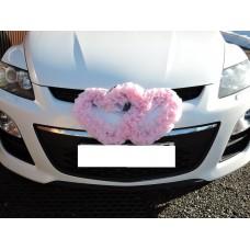 Два сердца для украшения машины  розовый №4860.115
