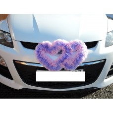 Два сердца для украшения машины цвет: сиреневый с розовым №4862.115