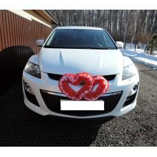 Два сердца для украшения машины цвет: красный с розовым №4864.115