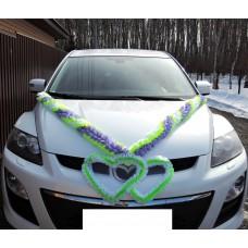 Комплект для украшения машины (Лента на капот- 1шт, украшение на радиатор 1шт) №5491.300
