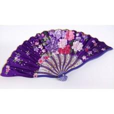 """Веер """"Шелковый изгиб"""", фиолетовый 21см №5702.90"""