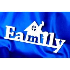 """Деревянные слова """"Family"""" №5779"""