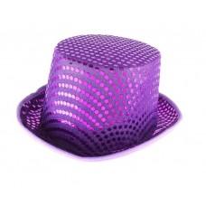 Шляпа цилиндр  с блеском №6070