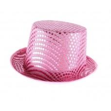 Шляпа цилиндр  с блеском №6071
