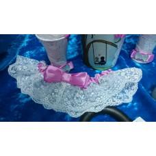 Подвязка темно-розовая (фуксия) SvetikFantasy №6371