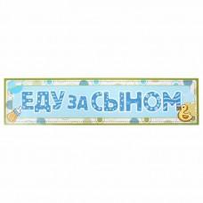 """Наклейка на номер """"Еду за Сыном"""" №6414"""