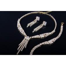 Комплект бижутерии  (кулон, серьги, браслет) №6451