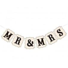 """Гирлянда на ленте """"MR & MRS"""""""