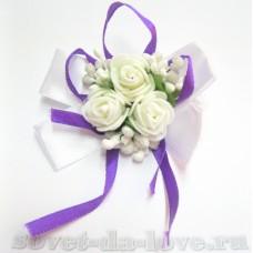 Браслет-бант на резинке фиолетовый 25073.112