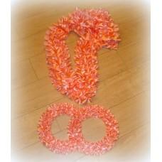 Комплект Кольца и Лента на капот галочка  атлас цвет: персик (ширина ленты  19см) №549.325