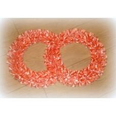 Два кольца для украшения машины атлас цвет: персик №551.101