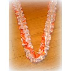 Лента для украшения спираль, атлас, 3 метра, цвет: бело/персиковая №565.201