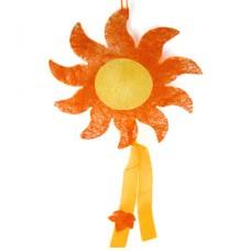 """Декор из сизаля """"Солнышко"""", оранжевый, 36 см №399.50"""