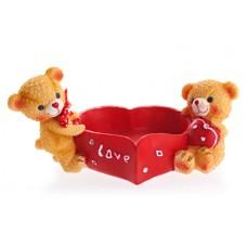 """Подставка для колец """"Мишки с сердцем"""", 12x7x5 см №405.136"""